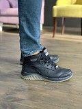 Мужские кроссовки кожаные зимние черные Splinter Б 1320 Мелитополь
