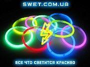 Светящиеся браслеты неоновые (мультиколор) (100 шт) Киев