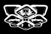 Люстра потолочная LED с пультом (11х50х50 см.) Матовый белый, черный или хром YR-A2400/4+4S-RGB-ch Житомир