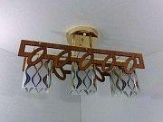 Люстра потолочная на 3 лампочки (27х14х49 см.) Хром или золото YR-6174/3-gd Житомир