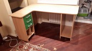 Продажа письменного углового стола с выдвижными ящиками 1050х1400мм Киев