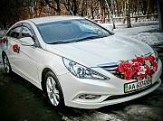 166 Hyundai Sonata белая NEW прокат авто Киев