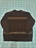 Мужской джемпер с кожаными вставками. большой размер 5xl Энергодар