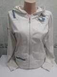 Белая олимпийка кофта с капюшоном Энергодар