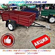 Легковой прицеп Дніпро-1700х1300х40 и другие модели от производителя. Евро тент в подарок! Лохвица