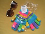 Яркие новые двойные перчатки, рукавицы на девочек Пирятин