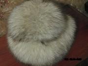 Шапка женская меховая натуральный песец Киев