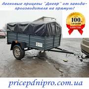 Купить прицеп автомобильный леговой Днепр-200х1300х350 и другие модели прицепов с тентом в подарок Сторожинец