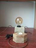 Настільний лофт світильник з гіпсу Львов
