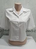 Блузка рубашка в деловом стиле. Хлопок Cotton. р. XXS-XS Энергодар