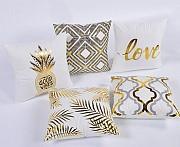 Декоративна подушка (наволочка) Колекція Золото на білому Киев