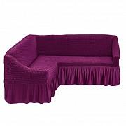 Чехол на угловой диван с юбкой Бежевый Home Collection Evibu Турция 50038 Фиолетовый Житомир