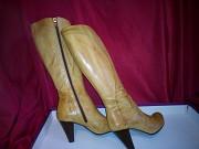 Кожаные сапоги женские с каблуком 38 размер size Киев