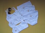 Белый набор,комплект белья на 8-9лет,Турция,Донелла Пирятин