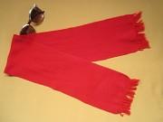 Красный детский шарф с бахромой Пирятин