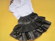 Черная школьная юбка, юбка в школу,р.140,на 8-9лет,Украина Пирятин