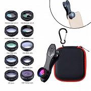 Набор из 10 объективов линз для смартфона APEXEL APL-DG10, Аксессуары к мобильным телефонам Киев