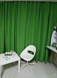 Ярко-зелёные шторы Узин