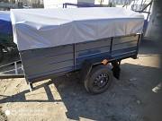 Купить новый прицеп 2000х1300х35 на рессорах Волга и другие модели. В подарок тент Кременец
