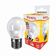 LED лампа SOKOL G45 5.0W 220 E27 4100К Винница